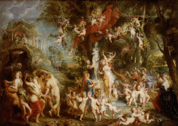 Rubens, Peter Paul: The Feast of Venus. Fine Art Print/Poster. Sizes: A1/A2/A3/A4 (002129)